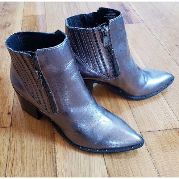 Kenneth Cole Reaction NEW Silver Ankle Boots